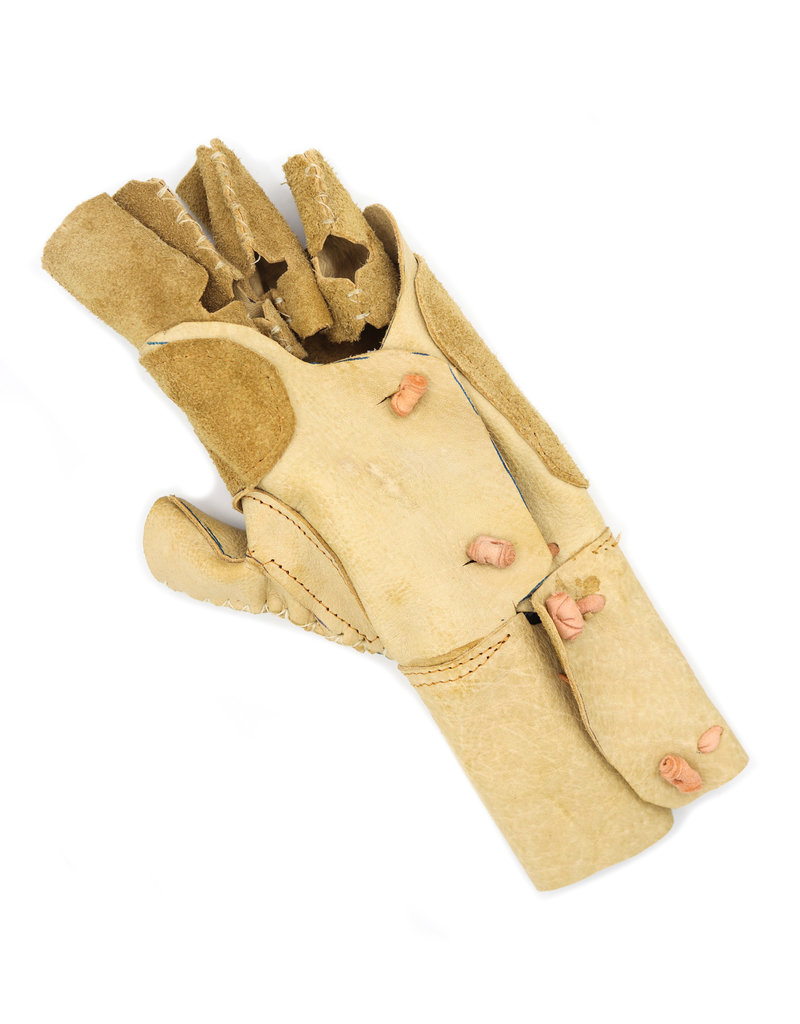 Manilla Charra Larga Natural (M) Brown Charro Glove Charreria