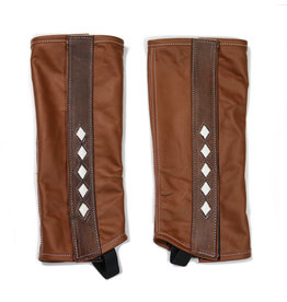 Polainas Cafe Piel Charras (S) Leather Brown Half Chaps