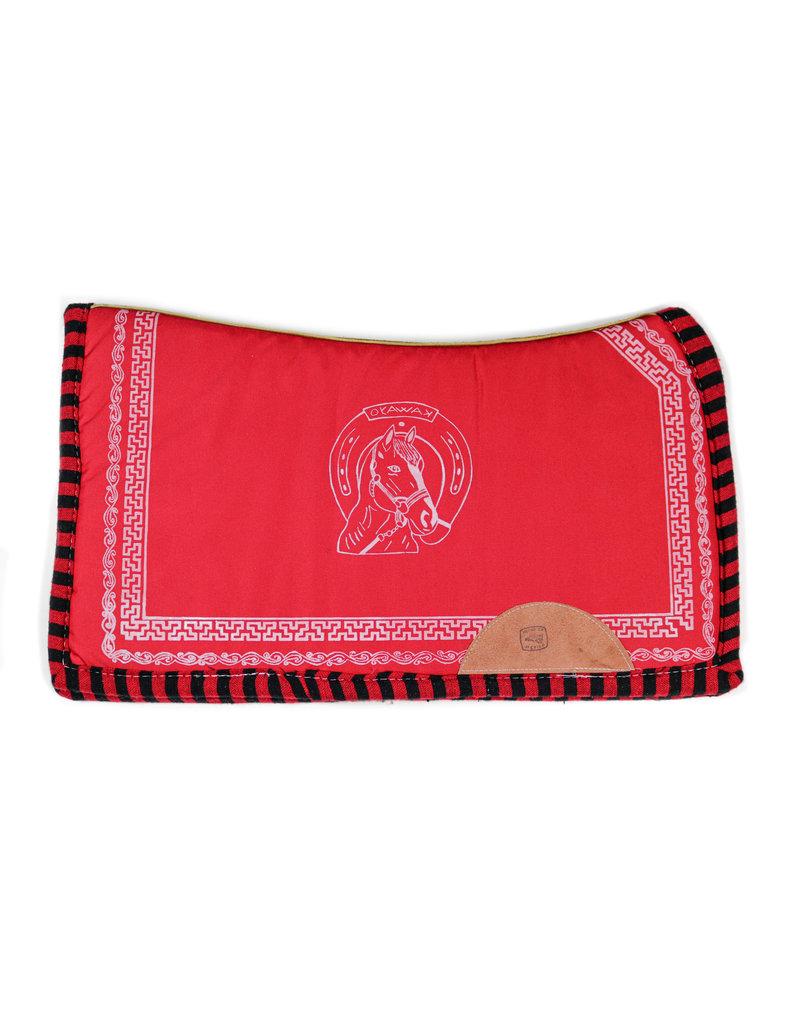 Horse Red Saddle Pad Carona Roja Para Montura Charra