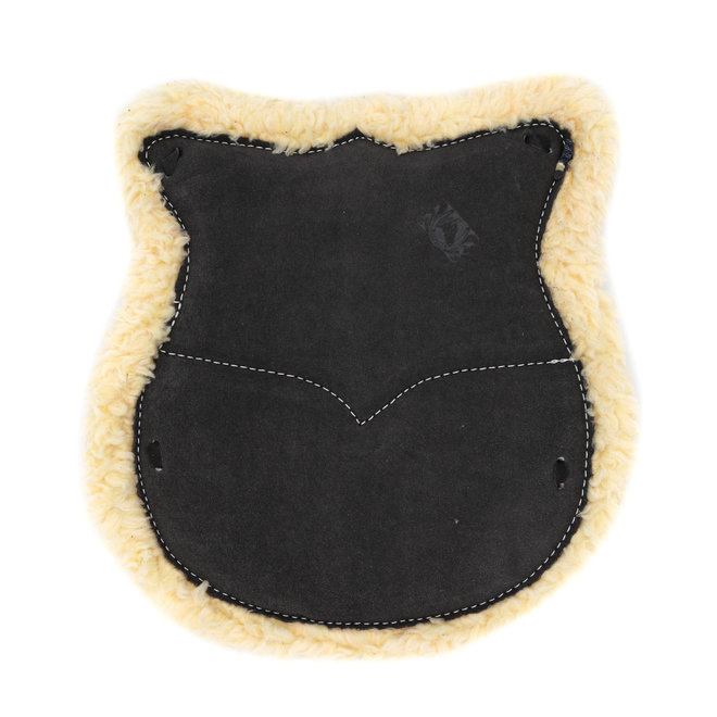 Charcoal Asiento de Borrego Obscuro Western Leather Wool Cushion