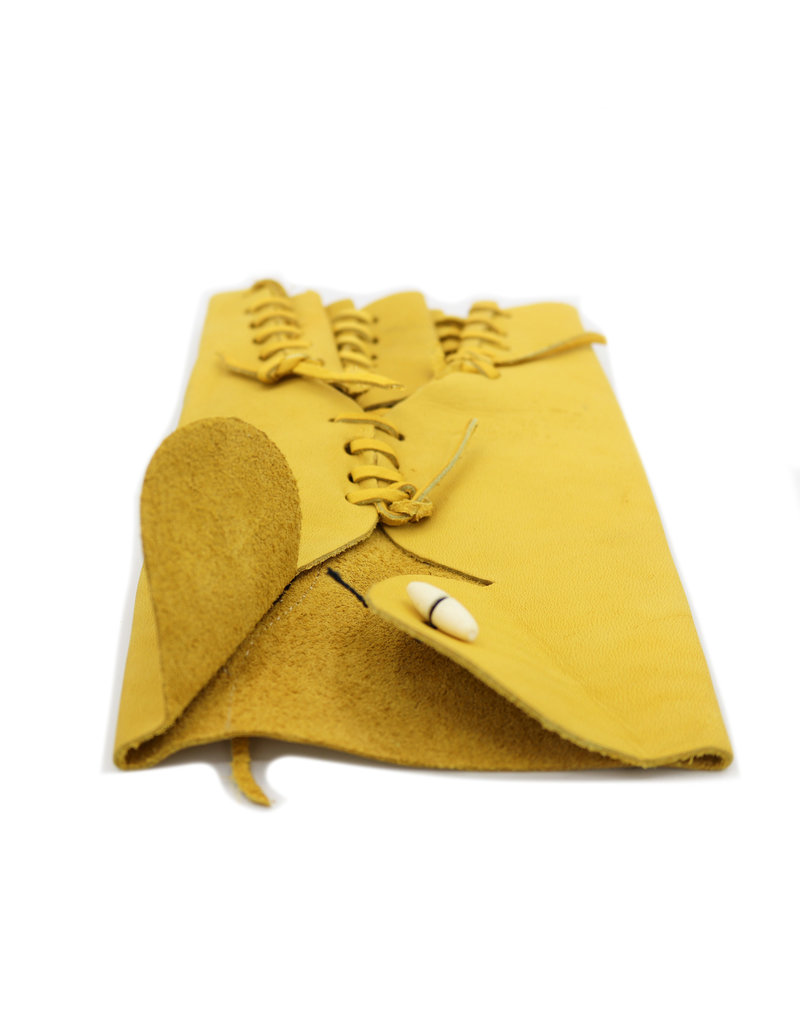 Manilla Amarilla Corta De Piel (Large) Yellow Leather Glove