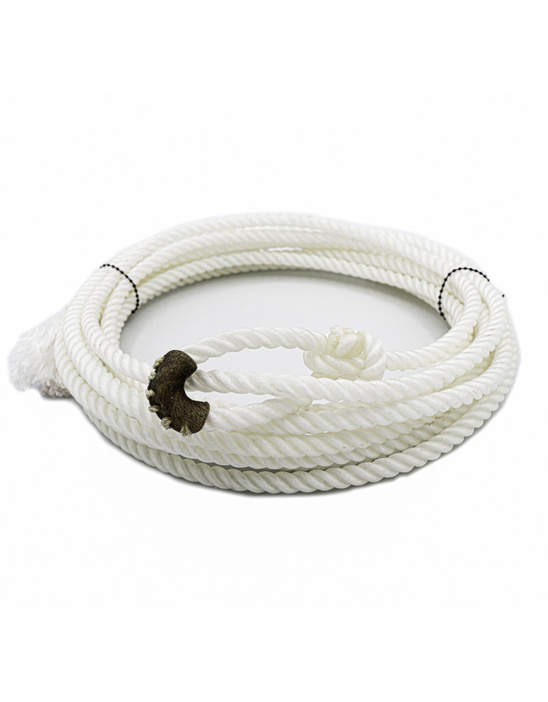 White 20 FT Soft Kid Rodeo Lasso Lariat With Burner