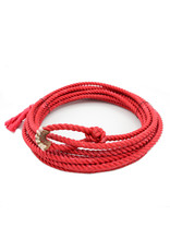 20 Ft Red Soft Kid Rodeo Lasso Lariat With Burner