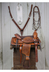 "10"" Pony Brown Leather Saddle Kit Set Square"