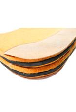 Carona Cola de Pato Amarilla Ortopedica  Caballo Horse Orthopedic Saddle Pad