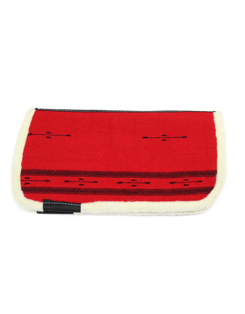 Kids Saddle Pad Red Cotton Carona De Algodon Para Nino Roja
