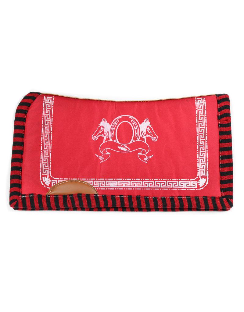 Carona Charra Cuadrada Roja Montura Horse Saddle Pad Red II