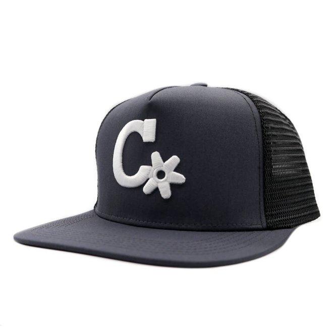 "Black ""CHARROS"" Trucker Hat Charros Original Cachucha"