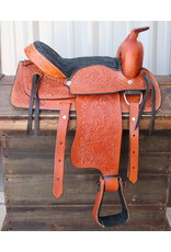 "12"" Tan Kids Youth Saddle Western Leather Mini Pony Saddle"