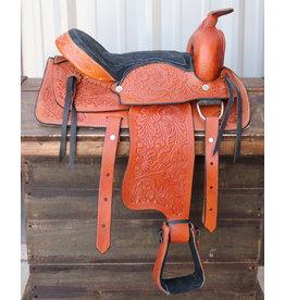 """12"""" Tan Kids Youth Saddle Western Leather Mini Pony Saddle"""
