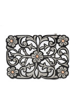 Hebilla Pavonada Flor Cobre Black Stainless Steel Belt Buckle