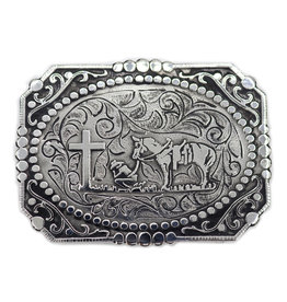 Cowboy At Cross Buckle Hebilla Vaquero En Cruz