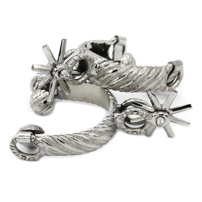 Espuelas Charras acero orejas rayadas Stainless Steel Charro Spurs