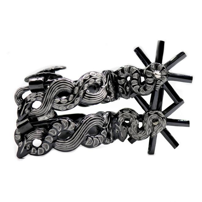 Espuelas Acero Negras Finas Black Stainless Steel Spurs