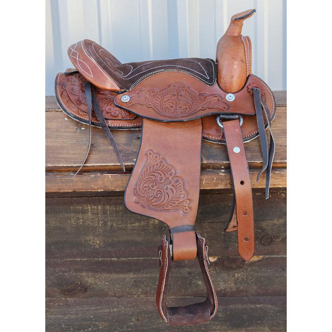 "10"" Brown Pony Pleasure Western Kids RD Saddle"