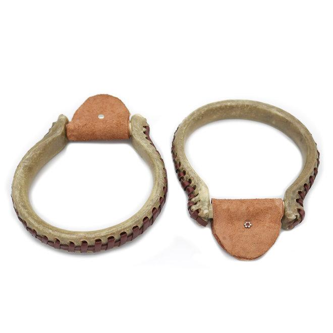Oxbow Round Rawhide Western Stirrups  Saddle Stirrups