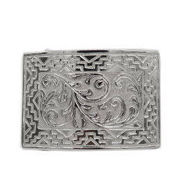 Engraved Charro Hebilla Belt Buckle