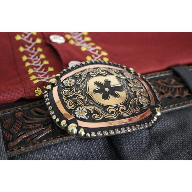 "Handmade Charros Original ""C"" Buckle Hebilla Charra"