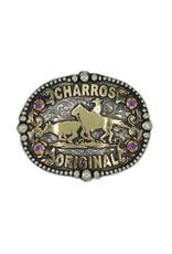 """Charros Original Hebilla Fina """"Coleador"""" Belt Buckle"""