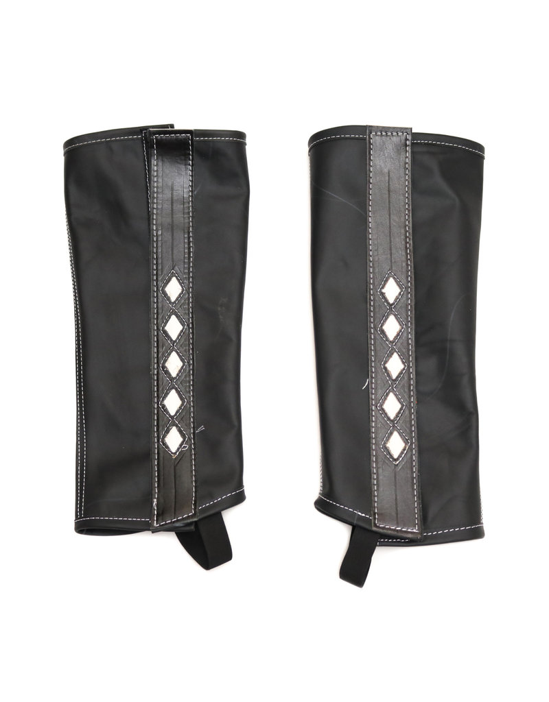 Polainas Negras Diamantes Black Riding Chaps