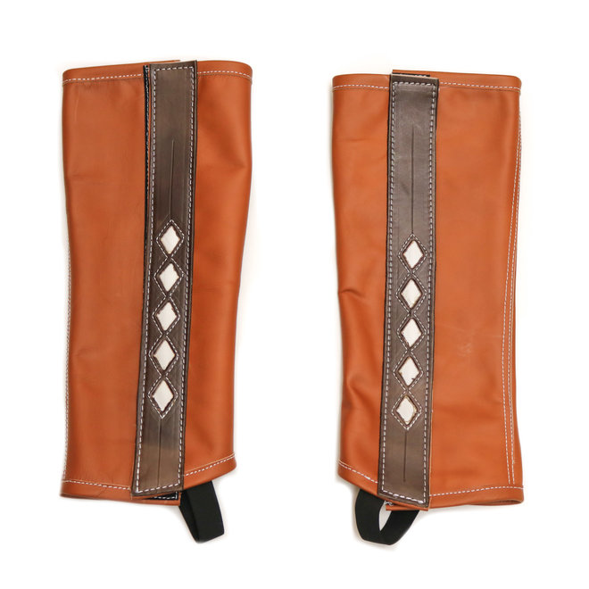 Polainas Cafe Leather Brown Charro Chaps (M)