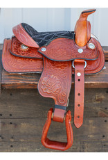 "8"" Toddler Tan Western Leather Saddle"