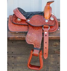 "8"" Toddler Tan Western Leather Saddle"
