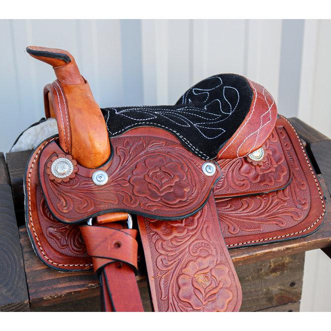 "8"" Toddler Infant New Born Size Toddler Tan Western Leather Saddle"