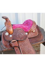 "8"" Pink/Brown Mini Toddler Mini Horse Saddle"