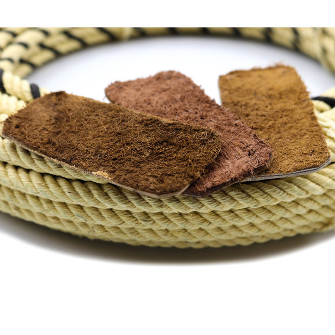 (Lot of 3) Charro Soga Rosadera Leather Burners For Rope