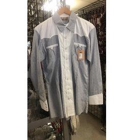 40 Large Camisa Charra  Estampada Gris