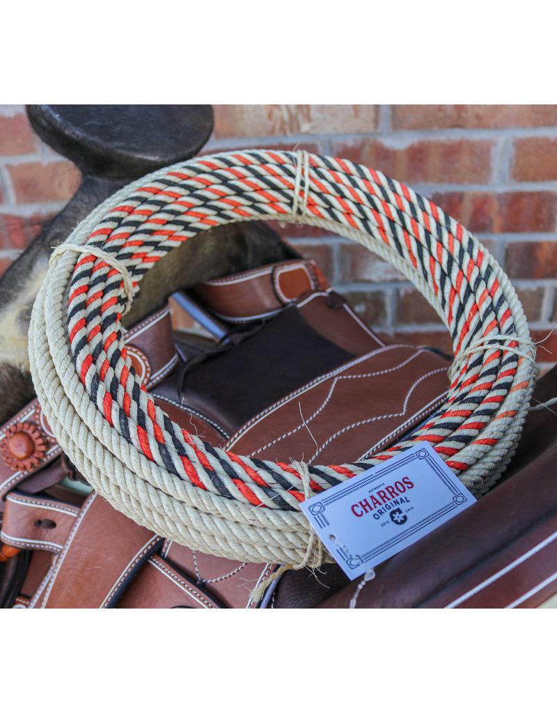 Orange Mexican Charro 68 Foot Ixtle Maguey Soga Rope Lasso