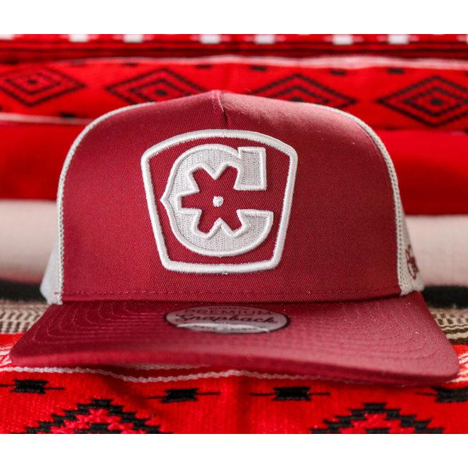 "Maroon ""C"" Logo Charros Original Curve Hat"