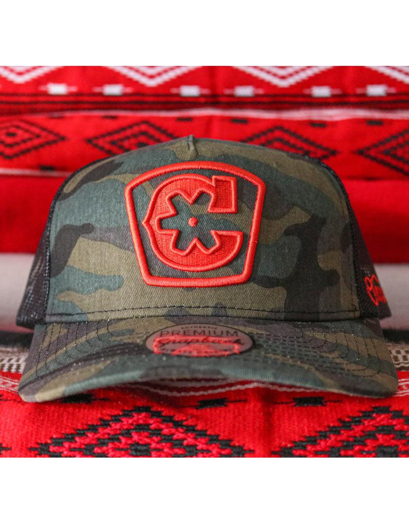 """Camo """"C"""" Logo Charros Original Curve Hat"""