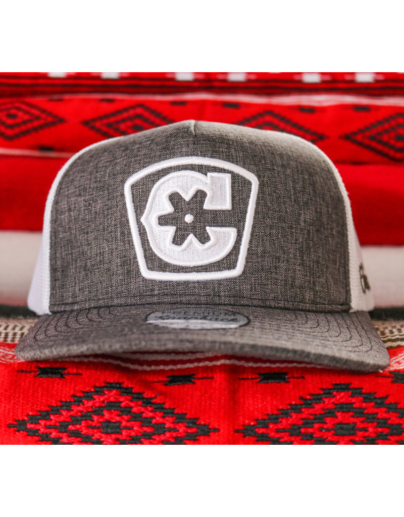 "Charros Original Curve Bill ""C"" Heather Grey Cap"