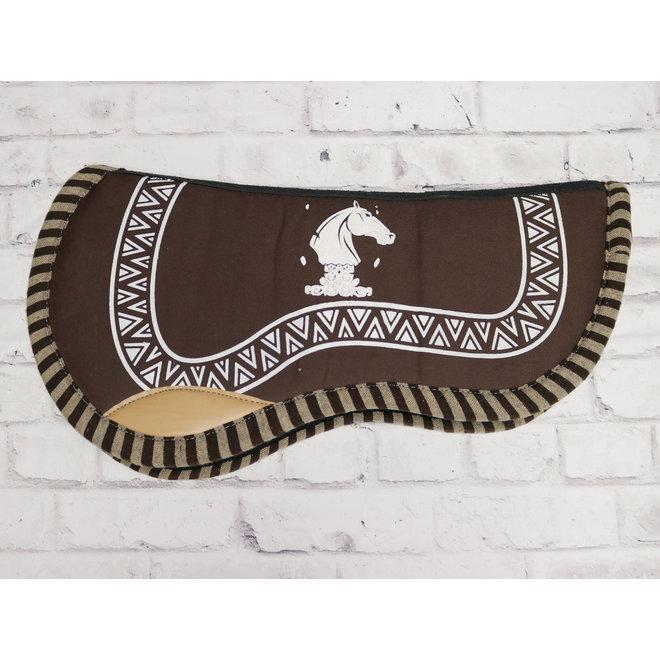 Charro Saddle Pad Carona Cola De Pato Chocolate