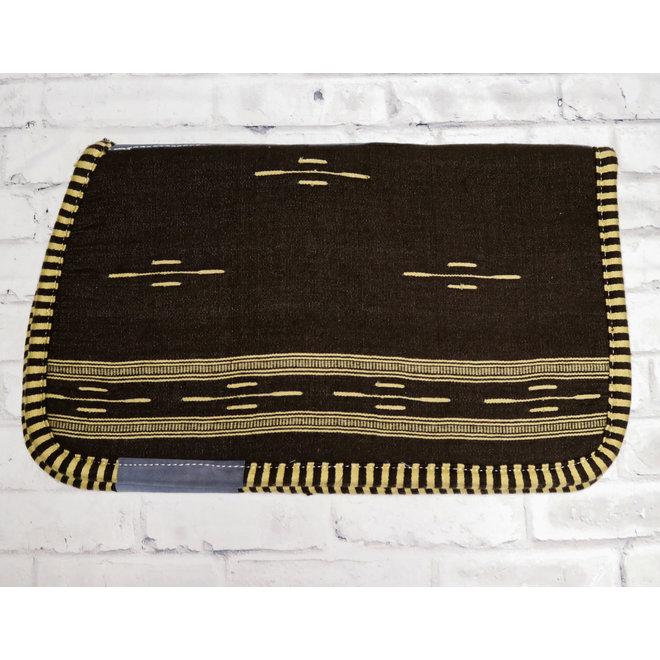 Cafe Carona Charra Algodon Brown Cotton Saddle Pad