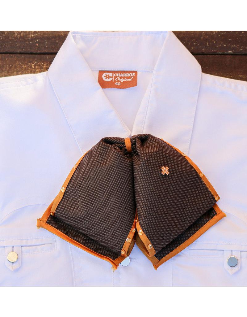 Charra Camisa Mono Charra Brown/Mustard Trim Charreria