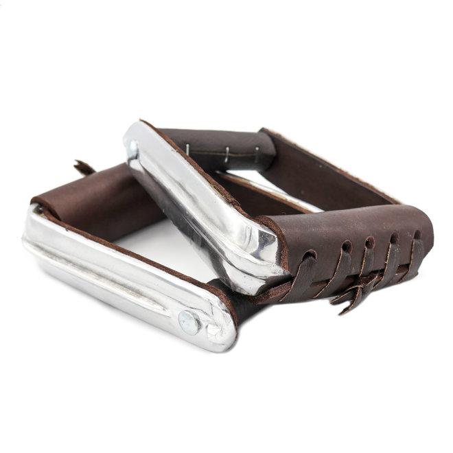 Charro Saddle Brown Estribos Stirrups Aluminum