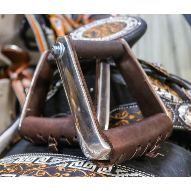 Montura Charra Estribos Aluminio Brown Charro Stirrups Aluminium