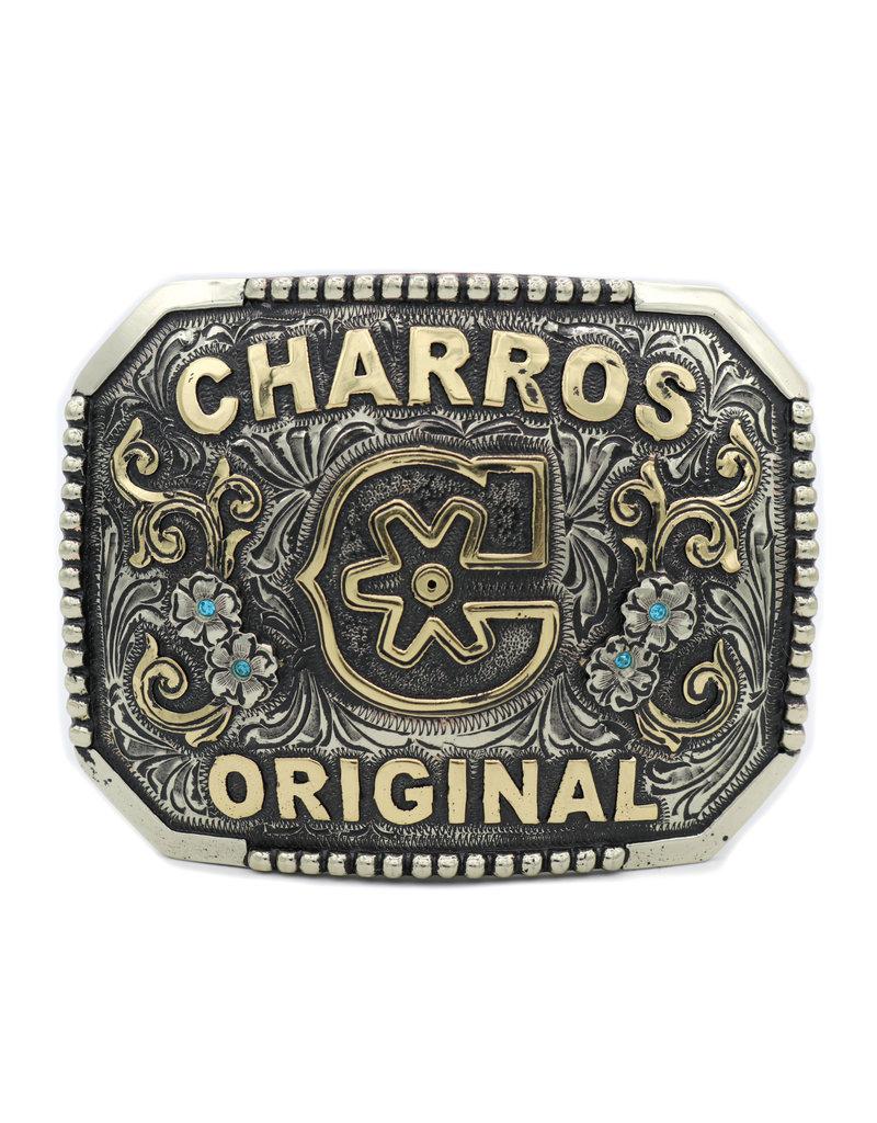 "Custom Buckle ""C"" Charros Original Belt Buckle"