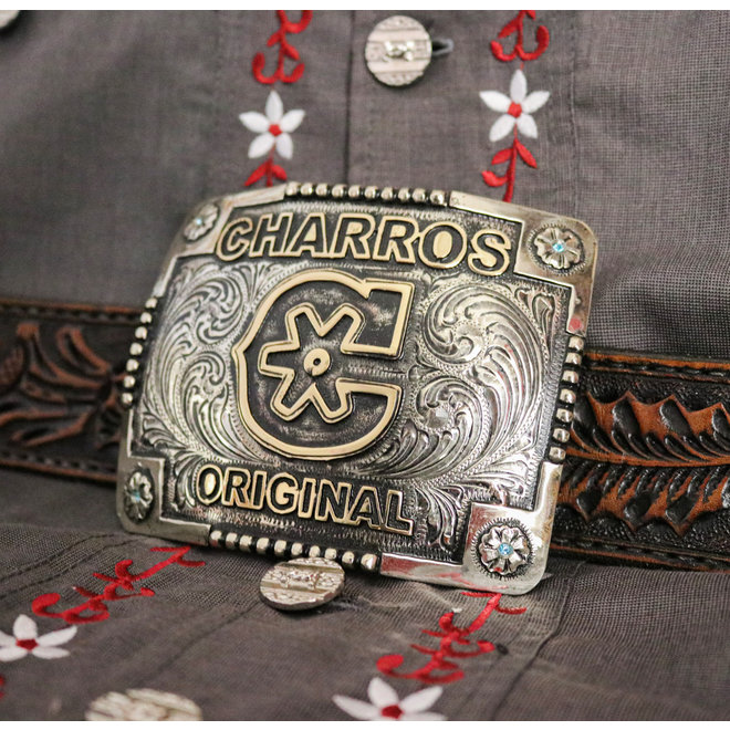 "Hebilla Flor ""C"" Charro Original Belt Buckle"