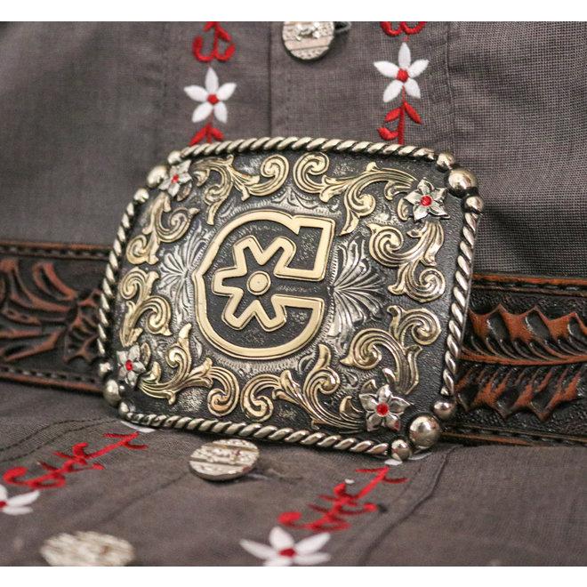 """Handmade """"C"""" Buckle Charros Original Hebilla"""