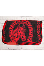 Red Carona Charra Algodon Rojo Cotton Saddle Pad