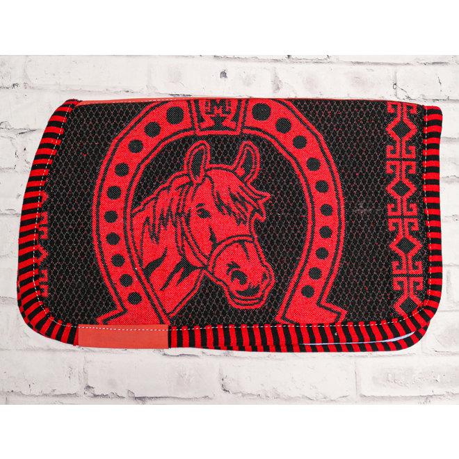 Red Carona Charra Algodon Rojo Cotton Saddle Pad