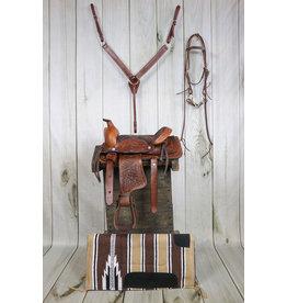 """10"""" Brown Pony Saddle Set With Pad"""