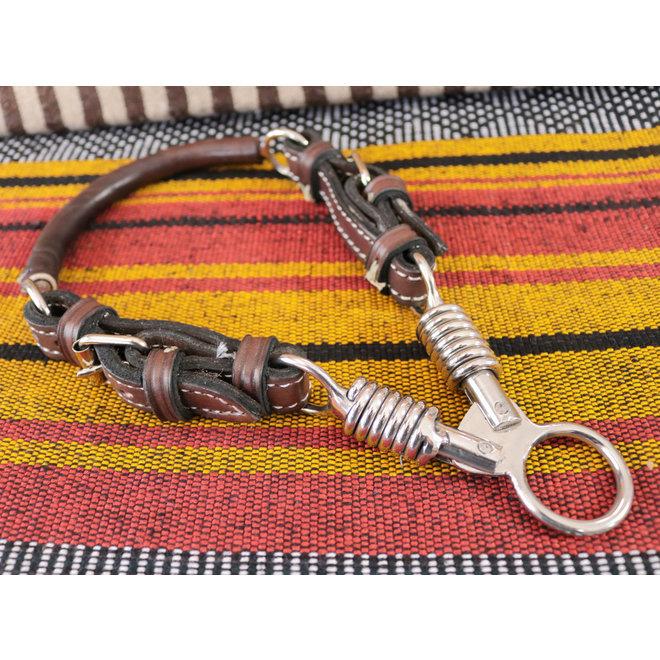 Charro Brown Bosal De Tijeras Leather Training Bosal