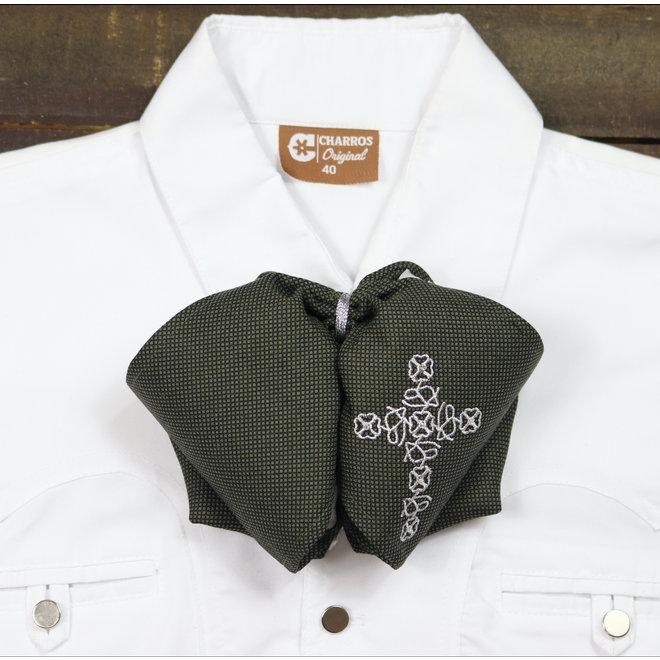 Mono Black Green Charro  Diseno Tradicional Charro Bow Tie