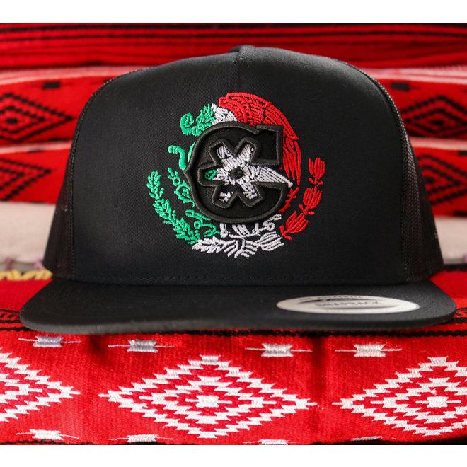 """Negra Eagle Charros Original Trucker """"MX"""" Hat"""
