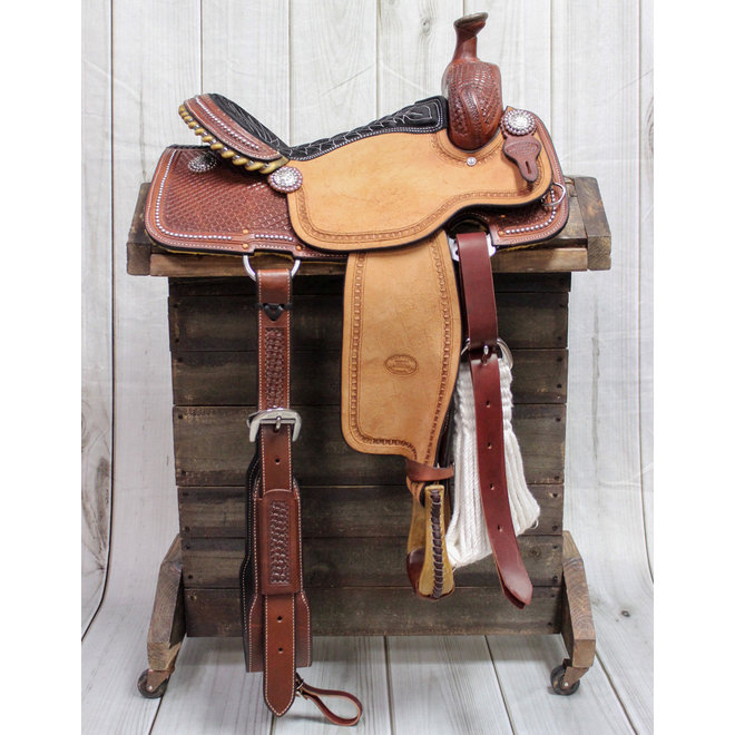 """15"""" All Round Western Billy Cook Leather Saddle"""